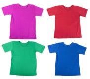 De overhemden van het T-stuk Stock Afbeeldingen