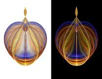 De overladen Fles van het Glas royalty-vrije illustratie
