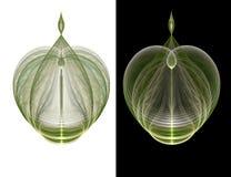 De overladen Fles van het Glas vector illustratie