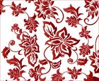 De overladen Rode Vector Van de Achtergrond bloem van het Patroon Stock Afbeeldingen