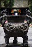 De overladen Tempel Sichuan China van de Pot van ncense Stock Afbeelding