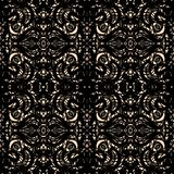 De overladen zwarte guipure, rijgt naadloze patroonvector stock foto's