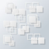 De overlappende Abstracte achtergrond van het Vierkantenconcept, illustra Stock Foto