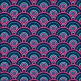 De overlapping omcirkelt patroonachtergrond vector illustratie