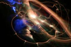 De overlappingen van de tijd of bol het schilderen met licht Royalty-vrije Stock Afbeelding
