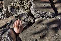 De overledene deelt van Beton na Aardbeving uit stock afbeelding