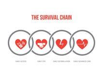 De overlevingsketen royalty-vrije illustratie
