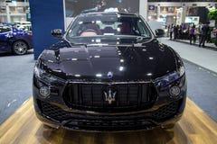 De oversteekplaats SUV van Maserati Levante Stock Afbeeldingen