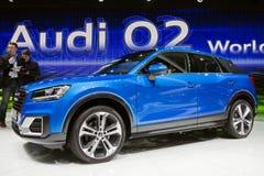 2016 de oversteekplaatsauto van Audi Q2 Royalty-vrije Stock Foto's