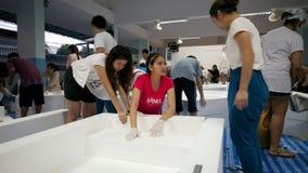 De overstroming van de moesson in Bangkok, Oktober 2011 Royalty-vrije Stock Foto