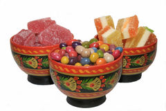 De overvloed van snoepjes Stock Foto