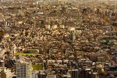 De overvolle luchtmening van de binnenstad van de stadswoonplaats Stock Foto