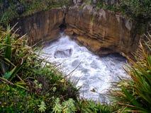 De overweldigende kustlijn van het Zuideneiland, Nieuw Zeeland stock foto