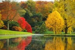 De overweldigende schoonheid van de herfst in Engeland. Royalty-vrije Stock Foto