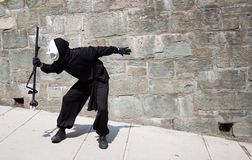 De overweldiger van de schaduw in de stad van Quebec stock fotografie