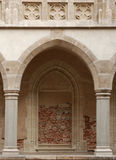 De overwelfde galerij van het kasteel Royalty-vrije Stock Afbeeldingen