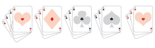 De overwinning van de speelkaart Stock Afbeelding