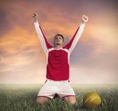 De Overwinning van de voetbal Stock Afbeeldingen