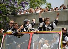 De overwinningsparade van Los Angeles Kingsstanley cup royalty-vrije stock foto's