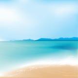 De overzeese achtergrond van het strand en stock foto's