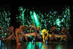 De overzeese demon-grote schaalscenario's show† de weg legend† stock foto