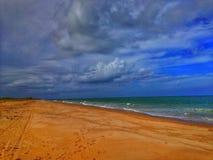 De overzeese kust Stock Foto's