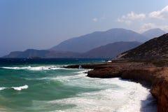 De overzeese kust van het eiland Stock Afbeeldingen
