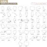 De overzichtskaarten van de V.S. verklaart inzameling stock illustratie