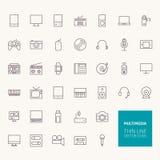De Overzichtspictogrammen van verschillende media royalty-vrije illustratie