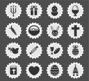 De Pâques de jour icônes simplement Photos libres de droits