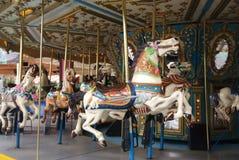 De Paarden van Carousol Stock Afbeeldingen