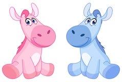 De paarden van de baby Stock Foto's