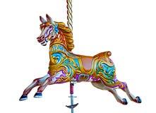De paarden van de carrousel Stock Afbeeldingen