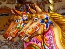 De paarden van de carrousel Royalty-vrije Stock Foto's