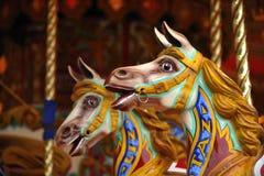 De paarden van de carrousel Stock Afbeelding