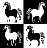 De paarden van het schaak Stock Afbeelding