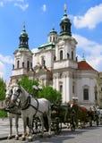 De paarden van Praag Stock Afbeeldingen