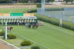 De paardenkoersen in Churchill verslaat stock foto