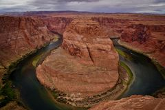 De paardschoen boog de Pagina van Arizona Californië royalty-vrije stock foto