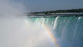 De paardschoen valt bij Niagara-Dalingen van Ontario stock videobeelden