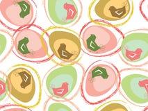 De paaseieren en de kuikens van de pastelkleur Stock Afbeeldingen