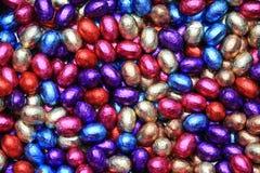 De paaseieren van de chocolade stock fotografie