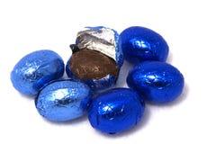 De paaseieren van de chocolade stock afbeelding