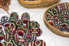 De paaseieren van Handcrafted royalty-vrije stock foto