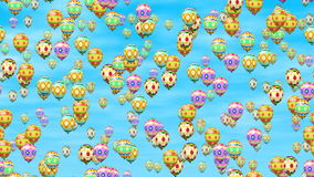 De paaseierenballons produceerden naadloze lijnvideo stock illustratie