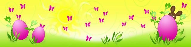 De Paashaas van de banner Stock Fotografie