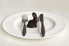 De Paashaas van de chocolade Stock Afbeeldingen