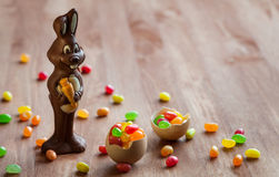 De Paashaas van de chocolade Royalty-vrije Stock Foto