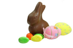 De Paashaas van de chocolade Stock Foto's