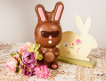 De Paashaas van de chocolade Stock Afbeelding